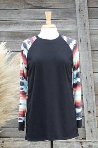 Aztec Long Sleeve Top