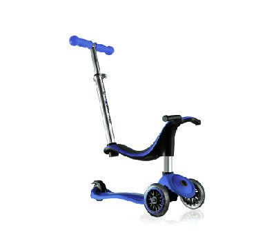 GLOBBER 4-IN-1 SCOOTER- Dark Blue/ Pink/ Green