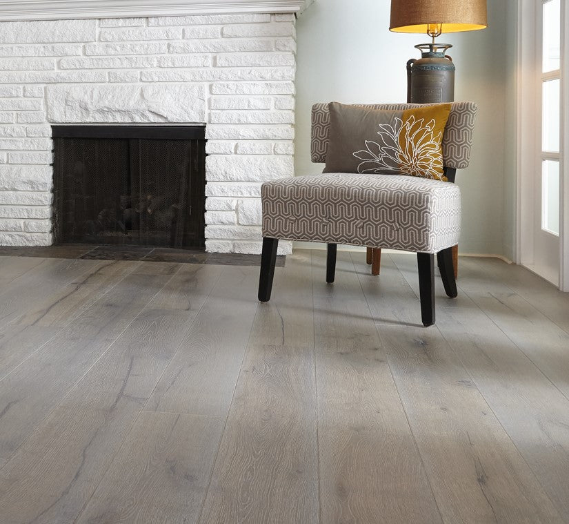 AMERICAN GUILD, MADISON SLATE : 7 7/16 INCH WIDE, WHITE OAK ENGINEERED HARDWOOD
