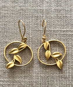 Handmade Gold Leaf Earrings