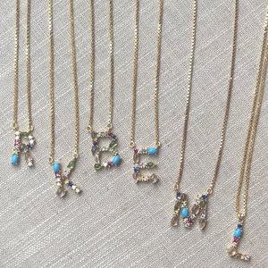 Colorful Letter Pendants