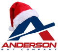 anderson bat logo with santa hat