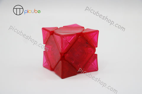 Picube Eclipse Wingy Skewb Transparent Pink