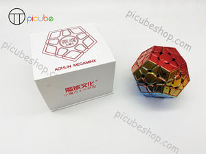 Picube Eclipse AoHun Megaminx Metal Blue Golden Red Gradient