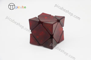 Picube Eclipse Wingy Skewb Transparent Dark Red