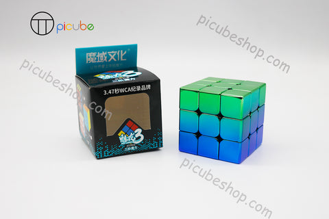 Picube Eclipse MeiLong 3x3 Metal Gradient Green-Blue