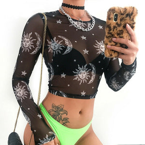 SunMoon Crop Top