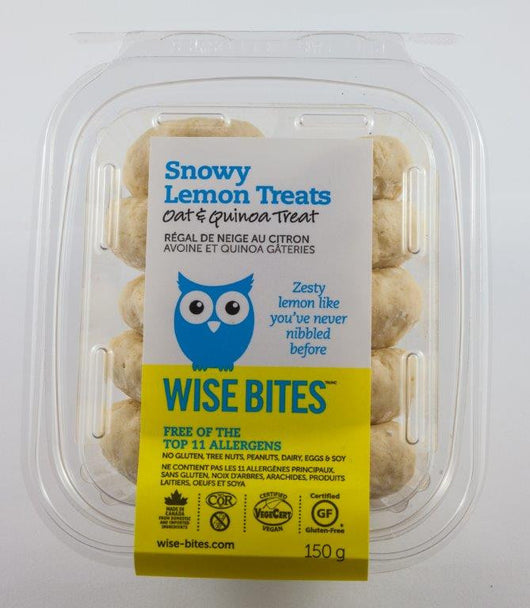 Snowy Lemon Treats (GF, Vegan, Nut-Free, NON-GMO, Kosher)