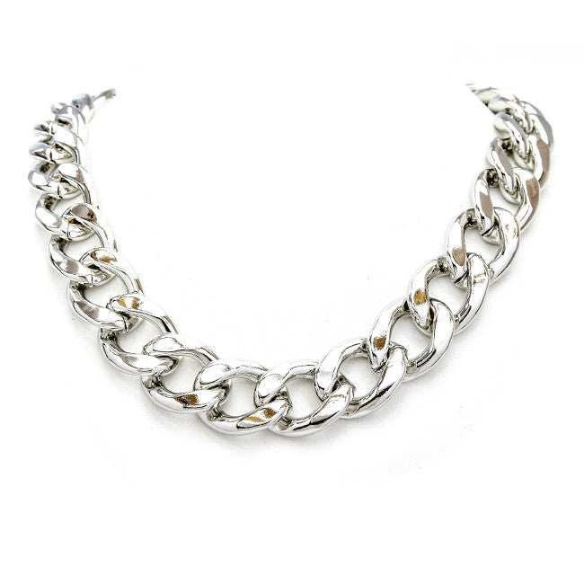 Chunky Chain Necklace- Silver