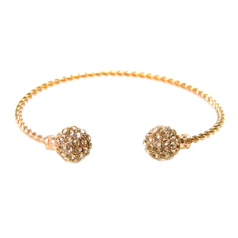 Disco Ball Bangle-Rosegold