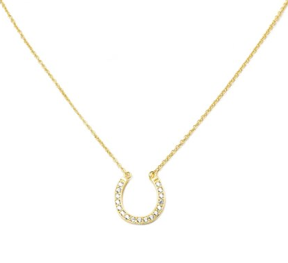 Dazzle Horseshoe Necklace- Sterling Silver