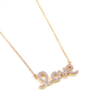 Dazzle Love Necklace- Sterling Silver