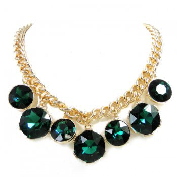 Cascading Necklace-Green