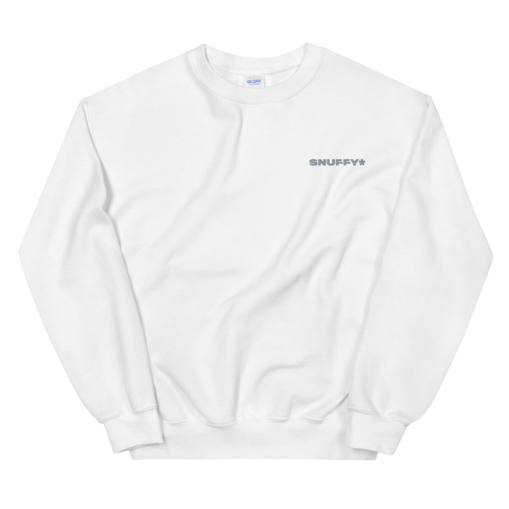EMBROIDERED WHITE SWEATSHIRT