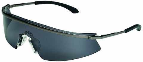 Mcr Safety T3112Af Triwear Metal Safety Glasses With Platinum Frame And Gray Anti-Fog Lens
