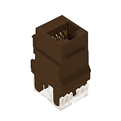 On-Q Wp3450Br Category 5E Rj45 Keystone Connector, Brown