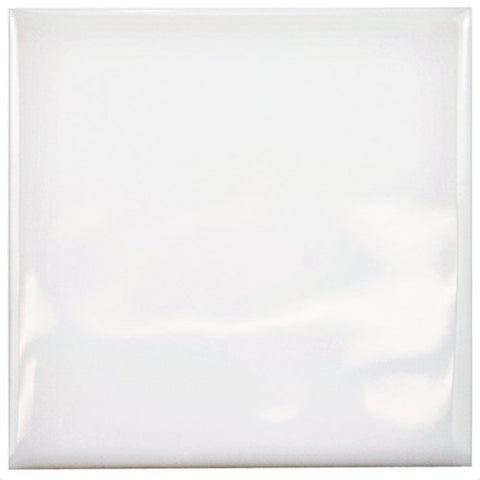 Somertile Wrc4Twwi Torsio Square Ceramic Wall Tile, 3.75 X 3.75, Ice White