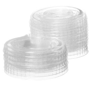Crystalware, Disposable Plastic Portion Cup Lids, Fits Portion Cups Sizes 1.5Oz To 2 Oz, 100 Lids  Clear (Medium)