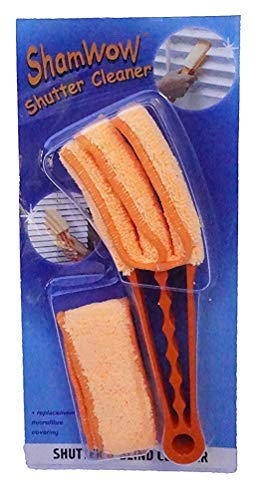 Shamwow Shutter And Blinds Cleaner With Replacement Microfiber Cloth Covering - For Dusting And Cleaning Shutters, Blinds, Fans, Air Conditioners, And More