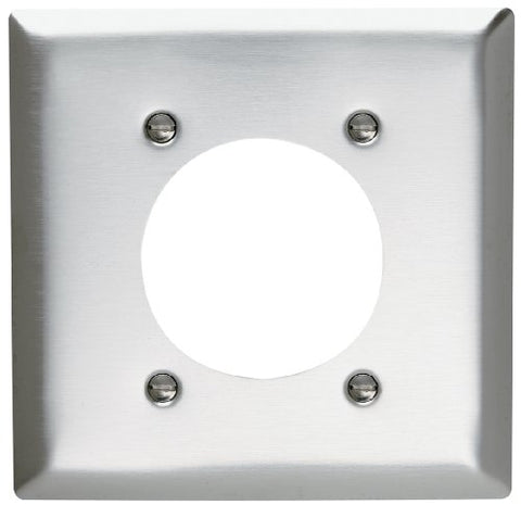 Pass & Seymour Sl703Cc12 Stainless Steel Wall Plate Two Gang Power Outlet 430 Easy Install