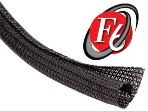 Techflex 3/4 F6 Split Sleeving 50 Ft. Black