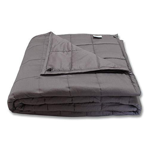 Cmfrt Weighted Blanket - | Fits Queen-Sized Bed Top (60X80  16 Lb) | Get Quality Rest | 100% Soft Breathable Cotton | (Perfect For 150 Lb Individual)