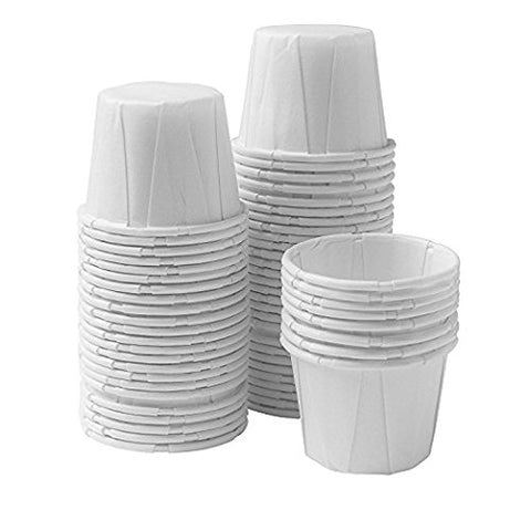 750 Vakly Paper Medicine Cups, 3/4 Oz, (Disposable Souffle Cups)