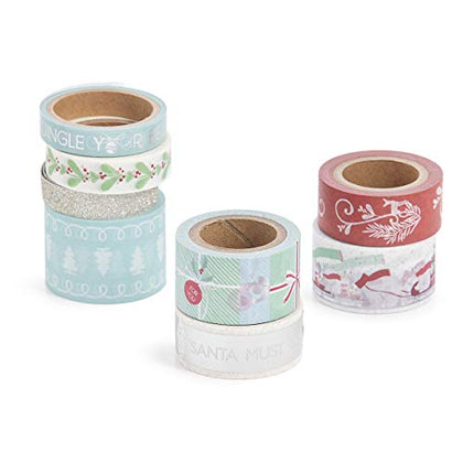 Martha Stewart 30068352 Washi Tape-Presents &Amp; Polar Bears, Assorted