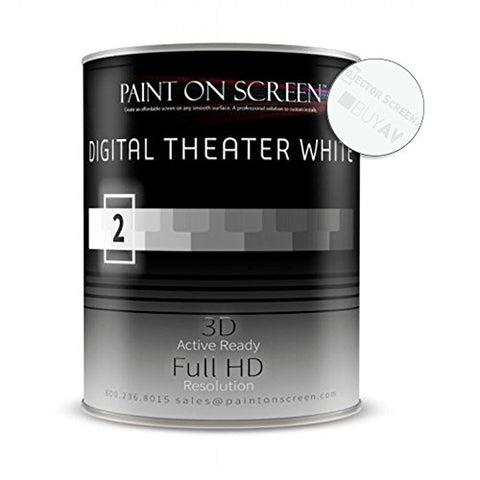 Paint On Screen Projection Screen Paint (Digital Theater White - Quart)