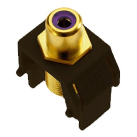 On-Q Wp3466Br Purple Rca To Fconnector, Brown