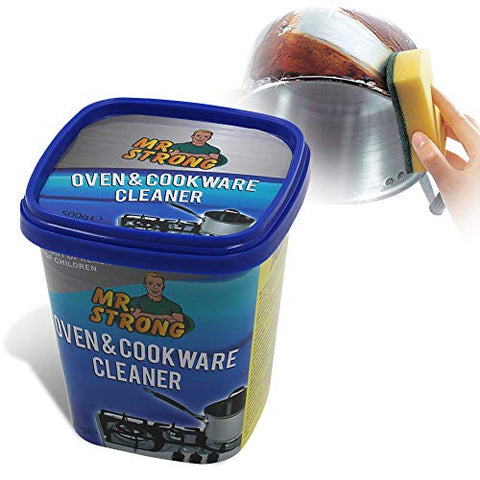 Oven &Amp; Cookware Cleaner Cleaning Paste 500G,Ovens, Stove Tops, Pans, Cookware, Glass Ceramic Stoves, Bath Tubs, Tiles, Sinks, Chrome, Metal, Upvc Windows And Doors, Patio Furniture,Lemon Scent
