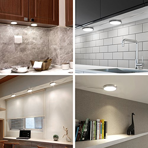 best sneakers 9a094 db71e Under Counter Lighting Remote Control - Albrillo Led Puck Lights, Under  Cabinet Lighting For Kitchen Shelf Closet, 9W 900 Lumen, Natural White