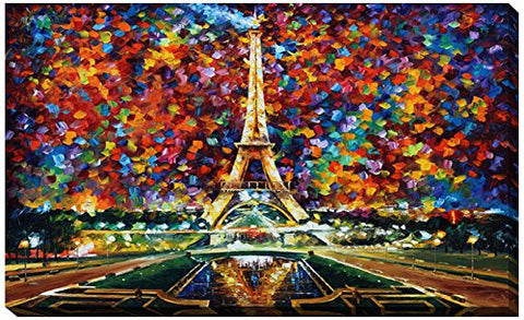 Picture Perfect International  Paris Of My Dreams  By Leonid Afremov Giclee Stretched Canvas Wall Art, 24  X 40  X 1