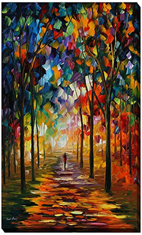 Picture Perfect International  Forest Path  By Leonid Afremov Giclee Stretched Canvas Wall Art, 18  X 30  X 1
