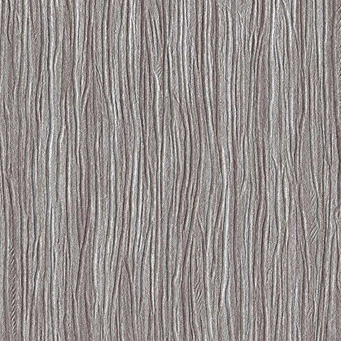 Forest Silver Brown Embossed Textured Wallpaper For Walls - Double Roll - By Romosa Wallcoverings