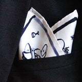 Pochette blanche - illustration Paris monochrome bleu par Philippine d'Otreppe
