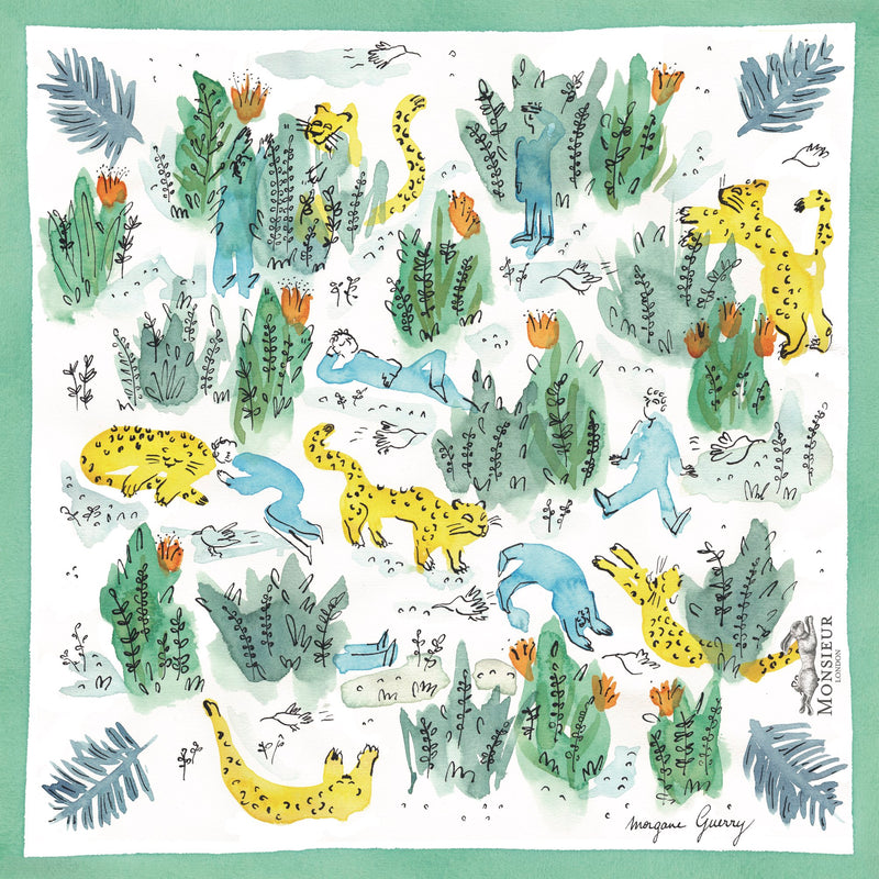 Pochette blanche - illustration jungle par Morgane Guerry