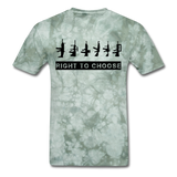 Right to Choose - military green tie dye