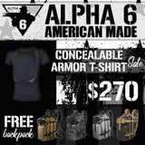Concealable Armor T-Shirt Sale with Free Backpack