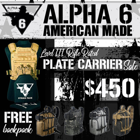 Plate Carrier Package Sale with Free Backpack!
