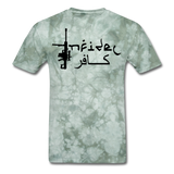 Infidel Men's T-Shirt - military green tie dye