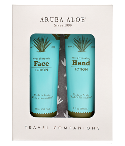 Hypo-allergenic Face Lotion and Ultra Hydrating Hand Lotion (Travel Duo) - Aruba Aloe