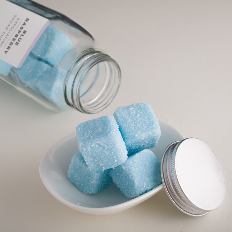 Blue Raspberry Exfoliating Sugar Cubes Scrub