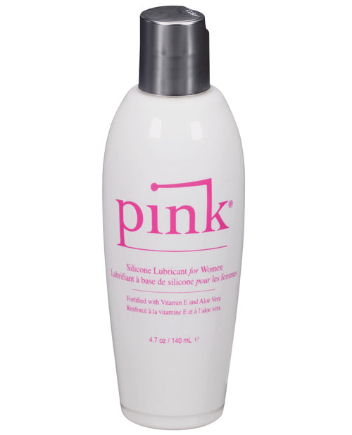 Pink Silicone Lube - 4.7 oz Flip Top Bottle