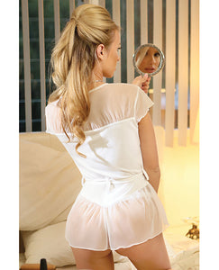 Premiere Soft Micro Bed Jacket & Panty White Small-3X (7 sizes)