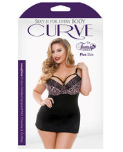 Load image into Gallery viewer, Curve Nene Cutout Molded Leopard Print Chemise w/G-String Rose Leopard 1X/2X-3X/4X