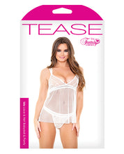 Load image into Gallery viewer, Tease Isla Lace & Net Babydoll w/Panty White