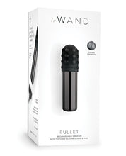 Load image into Gallery viewer, Le Wand Chrome Bullet Rechargeable Vibrator w/Silicone Textured Ring Black and Rose Gold