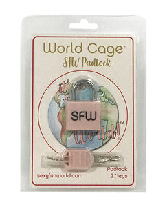 World Cage SFW Padlock w/2 Keys