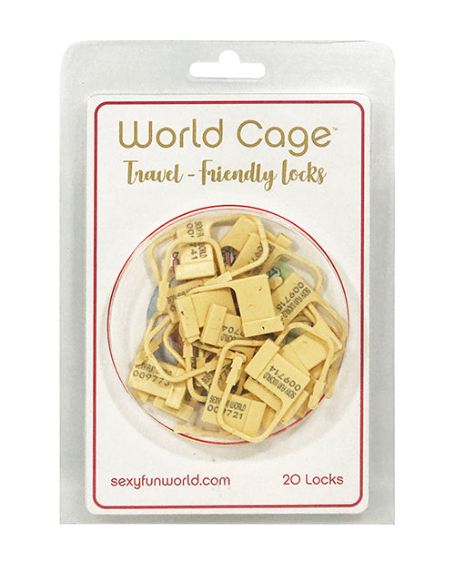 World Cage Travel Friendly Locks - 20 Pack Plastic Locks